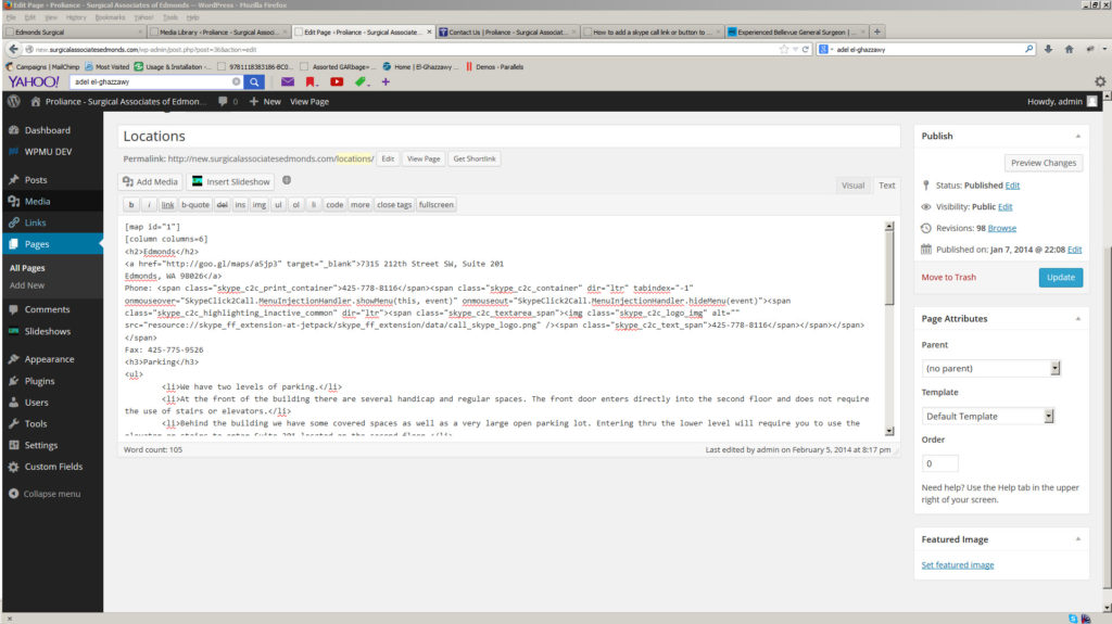 wordpress skype click to call